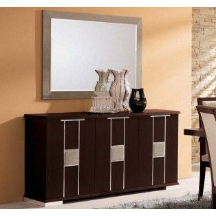 Miss Italy Day Modern Buffet With Aluminium Detailing Made In Italy Stylish Dining Room Dining Room Buffet Mirror Dining Room