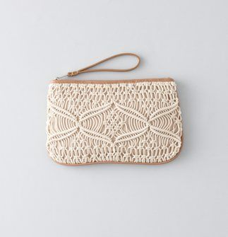 love for summer!! Macrame Zip Pouch