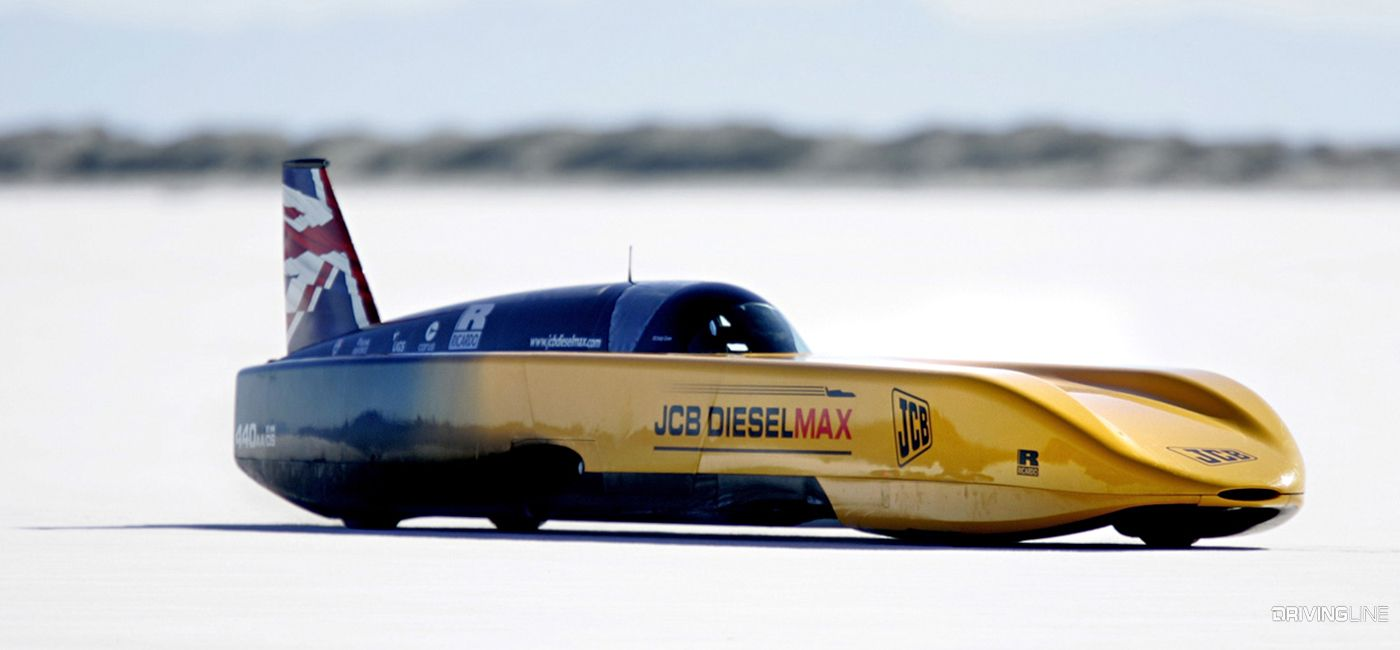From 200 Mph Pickups To 350 Mph Streamliners These Aerodynamic Diesels Own The Salt Flats Speed Drag Racing Cars Cool Cars