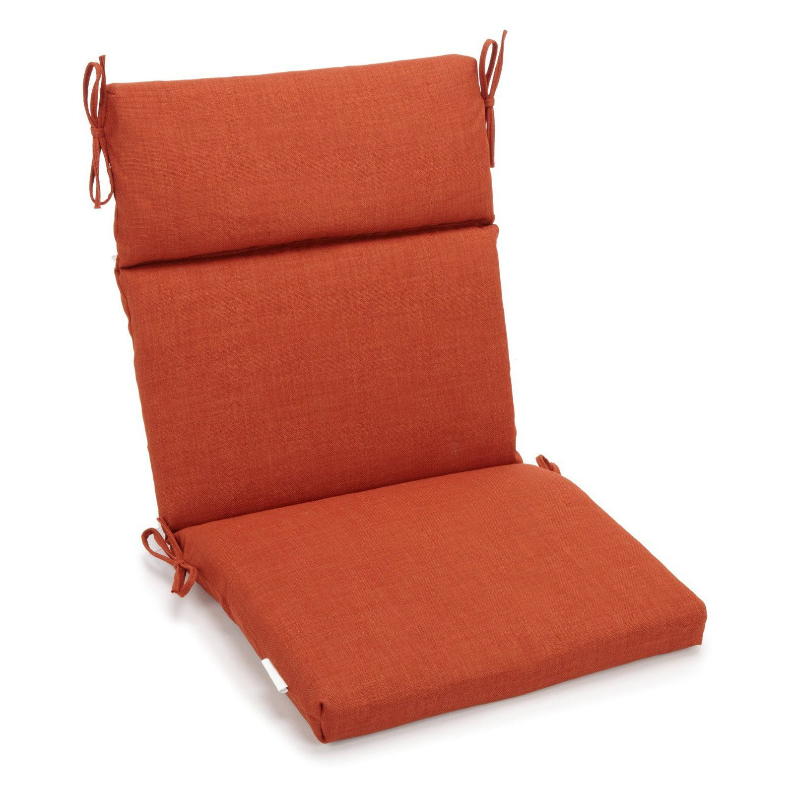 Blazing Needles Outdoor 3 Section 19 X 42 In High Back Patio Chair Cushion Cinnamon