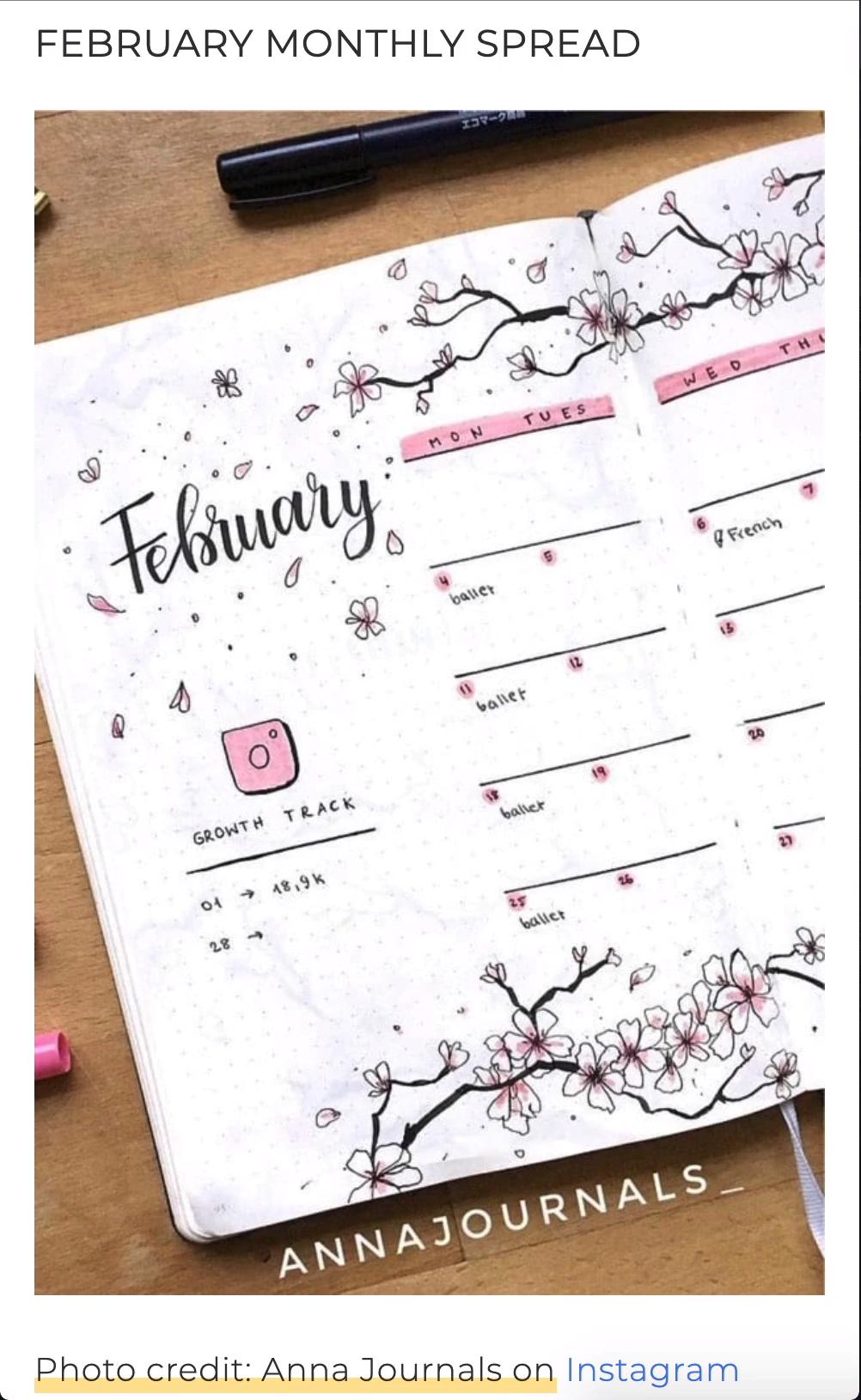 Photo of Best Cherry Blossom Bullet Journal Spreads