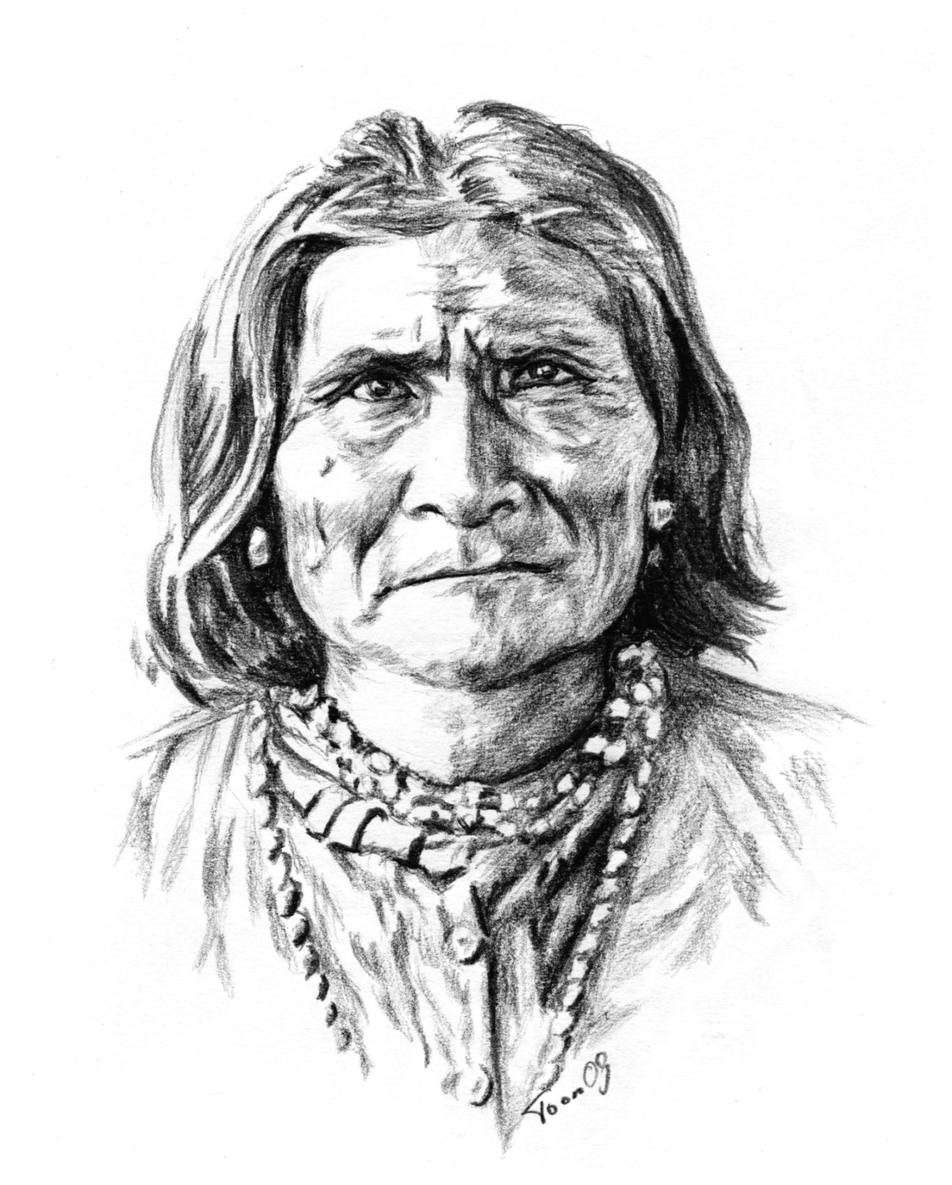 Native american indian drawings below home about me portraits native americans other artwork links