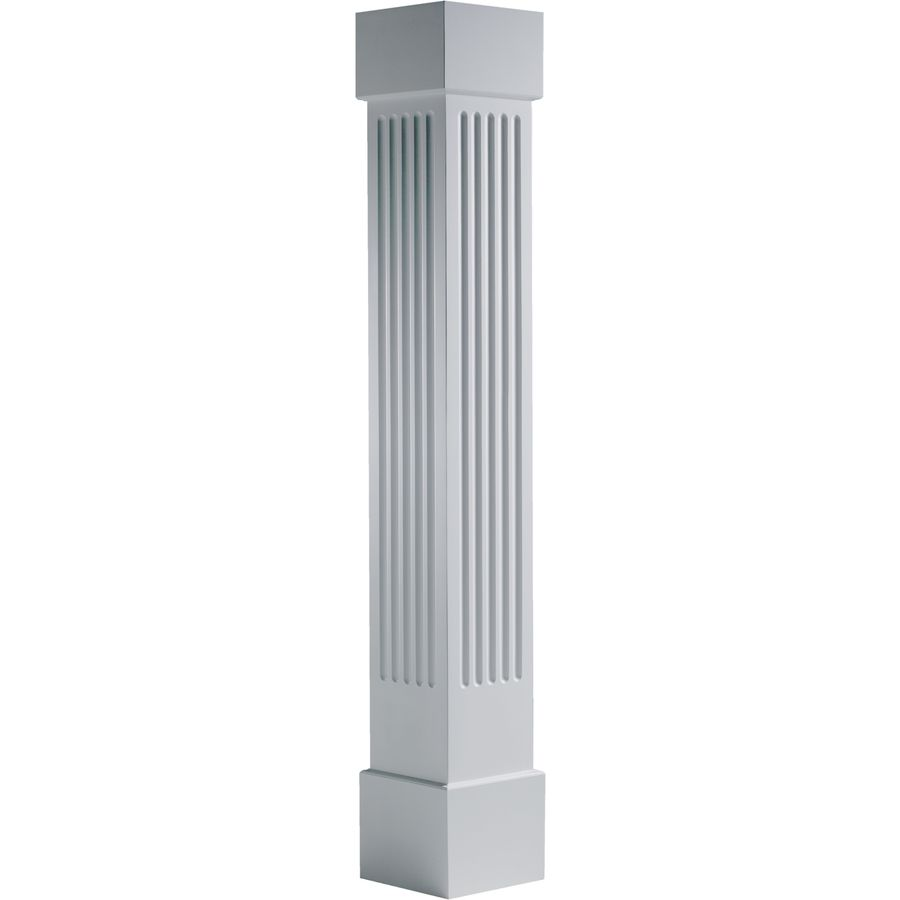 Turncraft Craftsman 7 625 In L X 95 5 Ft H Unfinished Pvc Fluted Column Wrap Lowes Com Column Wrap Fluted Columns Craftsman Columns