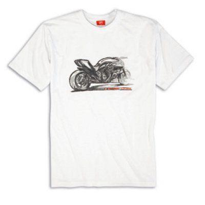 Ducati L-Twin Engine MOTORCYCLE BIKER Mens Black Cotton T-Shirt S XXL