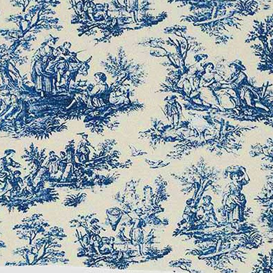 This Classic Blue On Cr 232 Me Toile Represents The Bucolic