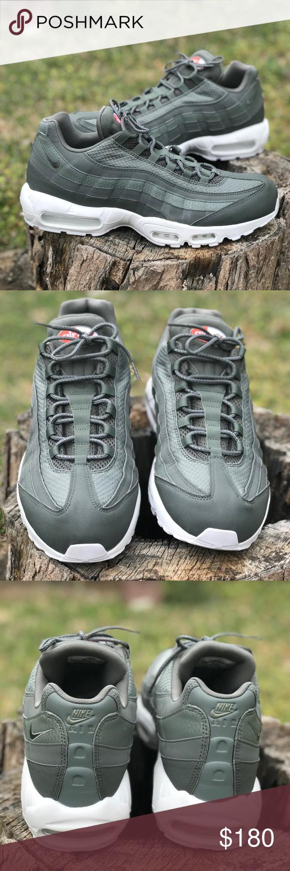 adadb91278 Nike Air Max 95 Premium SE NWOT River Rock & White Trainers 924478 002 Nike  Shoes Sneakers