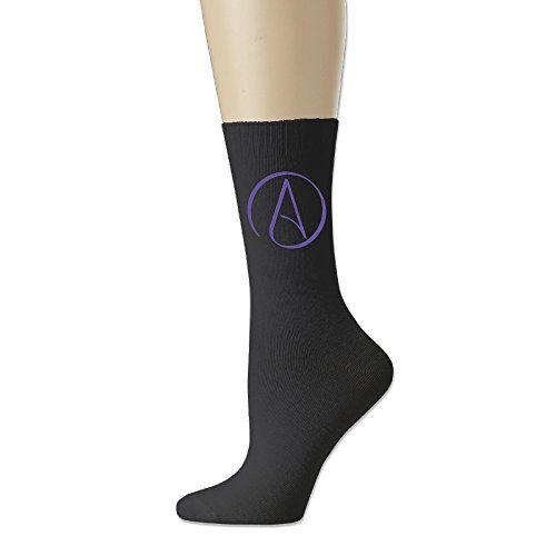 Adult Unisex Atheist Logo Athletic Sock Casual Socks 3