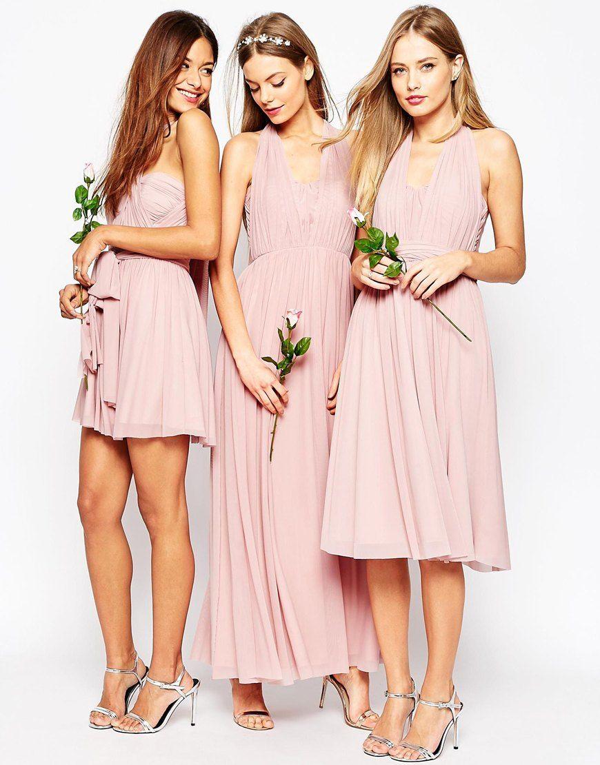 asos damas Image 4 of ASOS WEDDING Multiway Mesh Maxi Dress | One ...