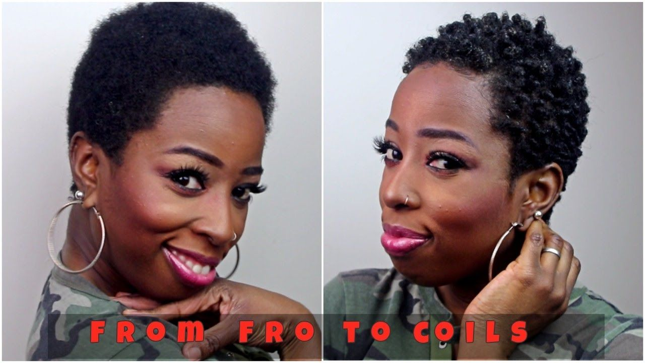 Curly black men haircuts styling my twa natural hair with the sponge  twa hair care and