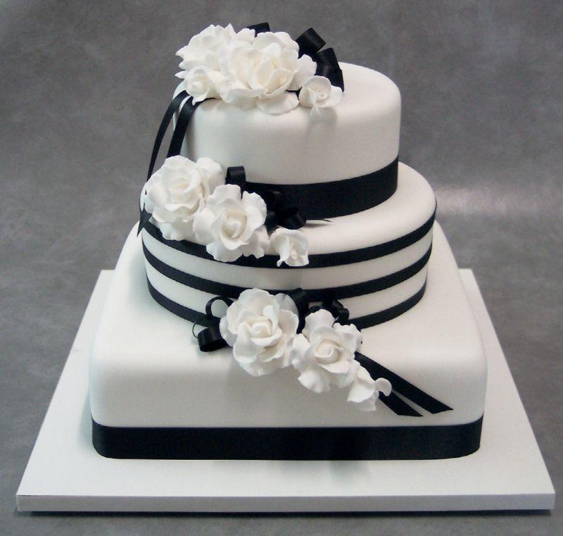 заслуживает только торт в черно белом цвете фото сожалению