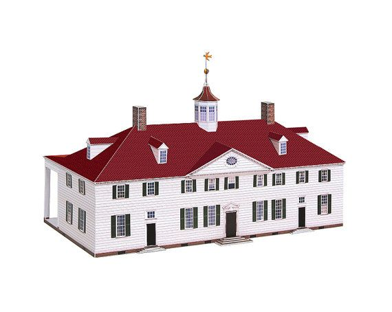 Mount vernon paper model of george washingtons mansion scale 1 mount vernon paper model of george washingtons mansion scale 1100 full color kit malvernweather Gallery