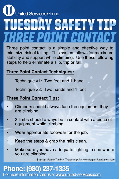 This week's Tuesday Safety Tip is about the ThreePoint