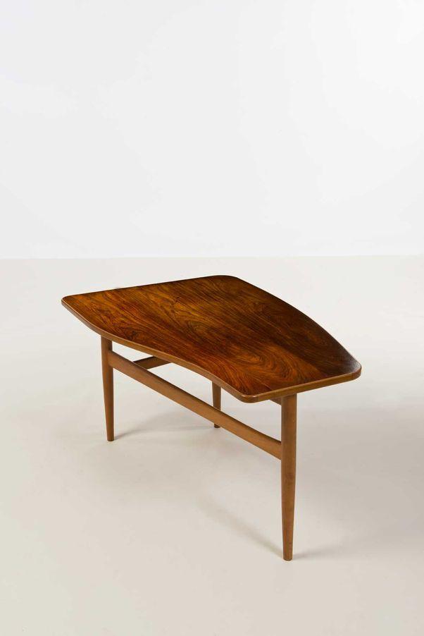 Finn juhl rosewood walnut and beech coffee table for - Vintage holzmobel ...