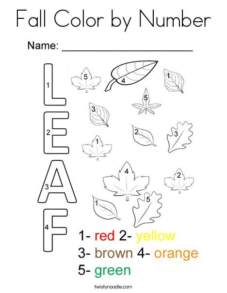 Fall Color By Number Coloring Page Fall Coloring Pages Fall Coloring Sheets Fall Leaves Coloring Pages