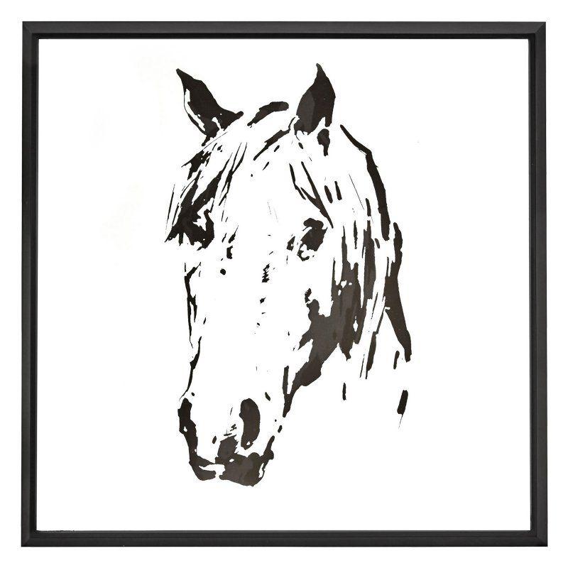 Majestic Horse Abstract Black Shadow Box Wall Art - 2578