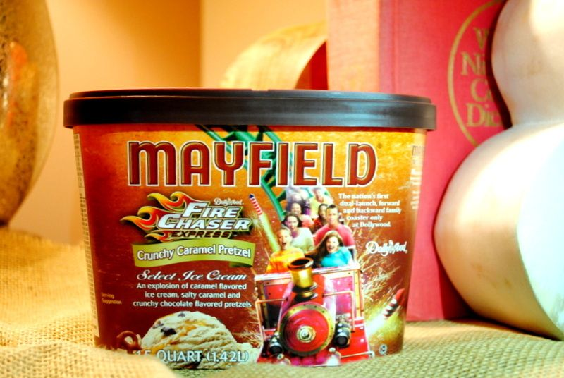 Dollywoods FireChaser Express Receives Special Mayfield Ice Cream
