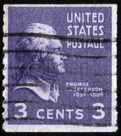 US Stamp 1932 Thomas Jefferson 3rd President 1801 1809