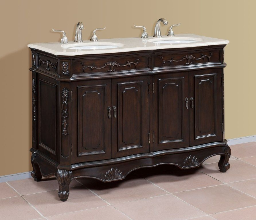 50 Inch Double Sink Bath Vanity Traditional Bathroom Vanity