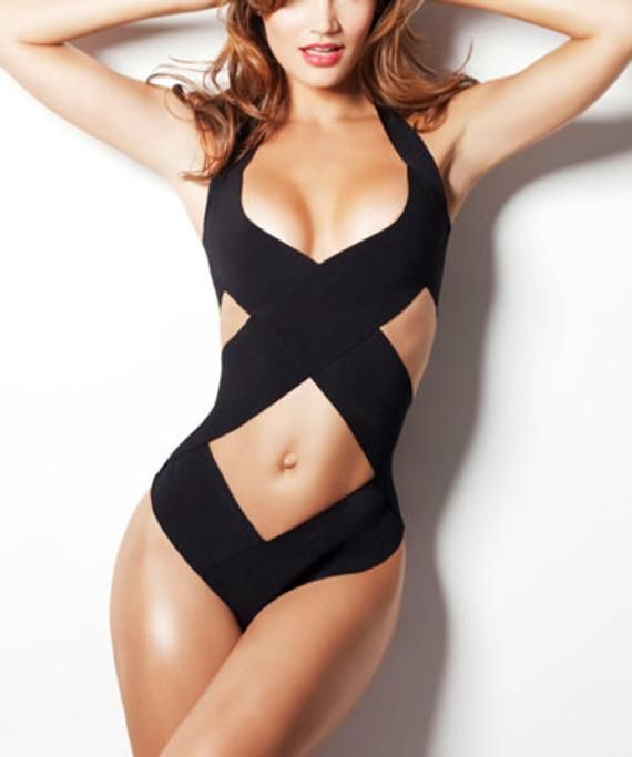 79e7630cb3 Bandage swimsuit/ bathing suit as seen in GQ, one piece, bandage swimwear,  Criss cross Top selling