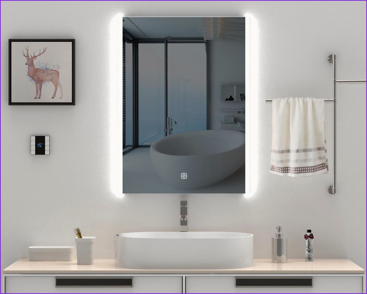 Awesome Double Wide Bathroom Mirrors In 2020 Lighted Vanity