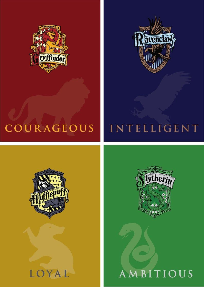 Hogwarts House Vector Downloads High Quality Versions Of The Etsy In 2020 Hogwarts House Colors Hogwarts Houses Harry Potter Hogwarts Houses