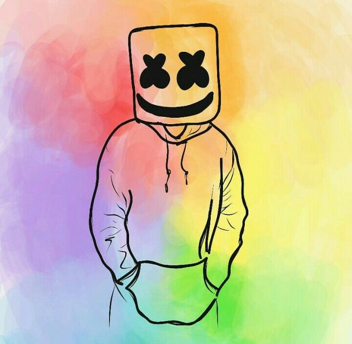 Who else thinks marshmello is awesome, painting, music, art
