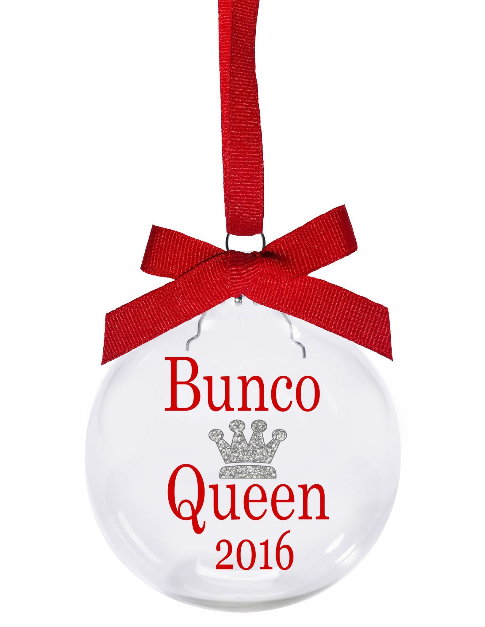Bunco Christmas Party Ideas Part - 20: Bunco Queen 2016 Bunco Christmas Ornament