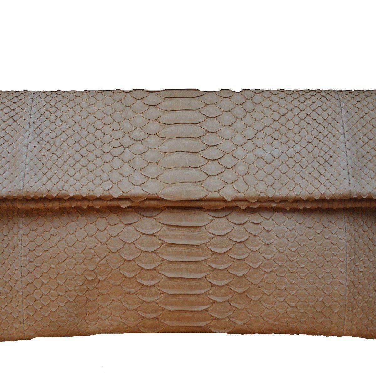 Handbag / Allegra London / Beige Python Envelope Clutch