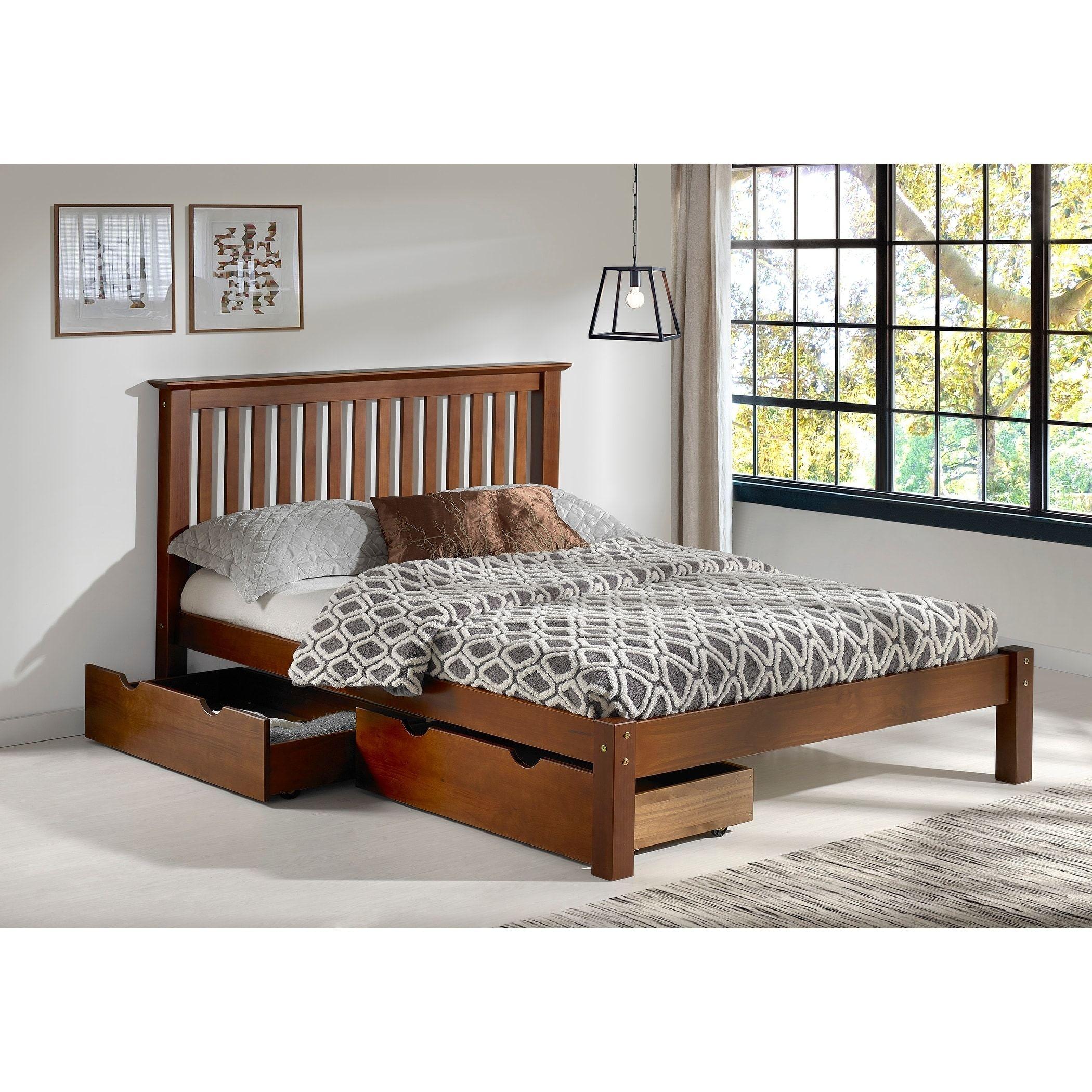 Bolton Furniture Girona Chestnut Brazilian Pine Queen-size Storage Bed, Brown
