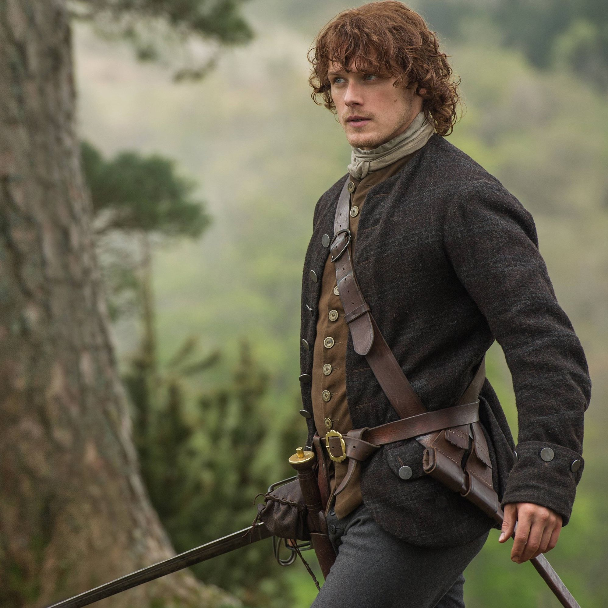 Jamie Fraser (Sam Heughan) in Outlander on Starz http://www.farfarawaysite.com/section/outlander/gallery13/gallery.htm