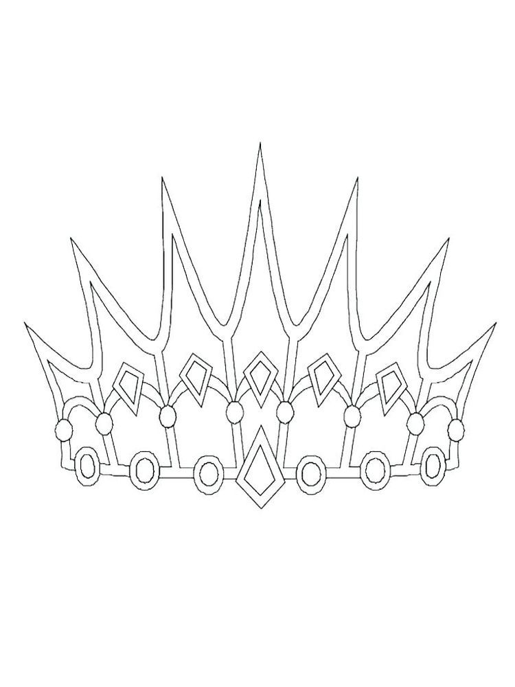 Queen Crown Coloring Pages For A King The Crown Is A Symbol Of His Power By Wearing A Crown He Will Loo Princess Coloring Pages Crown Drawing Easy Drawings