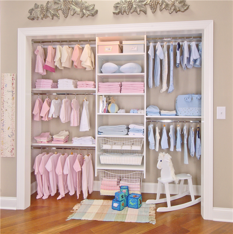 Closet works simple closet systems designed to your for Simple closet ideas