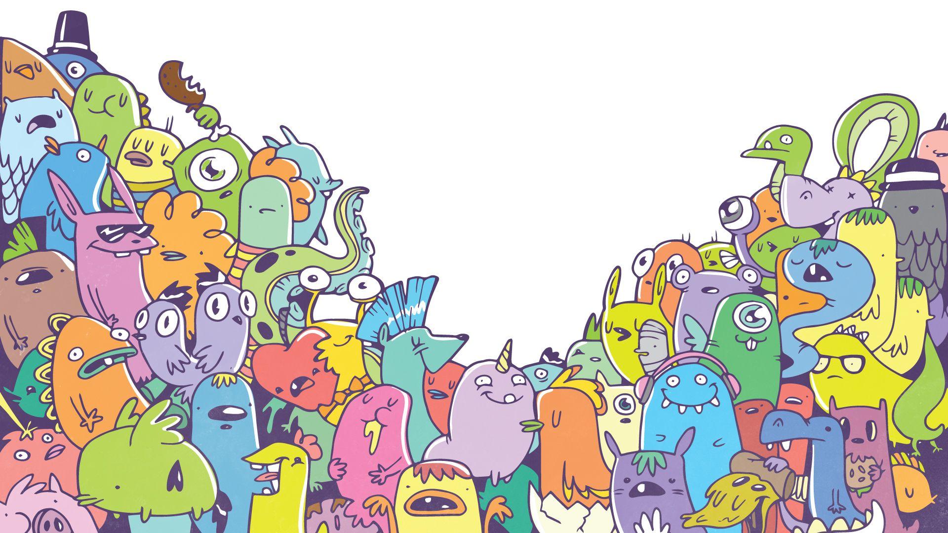 Doodle Wallpaper For Iphone | Гриффонаж, Обои искусство ...