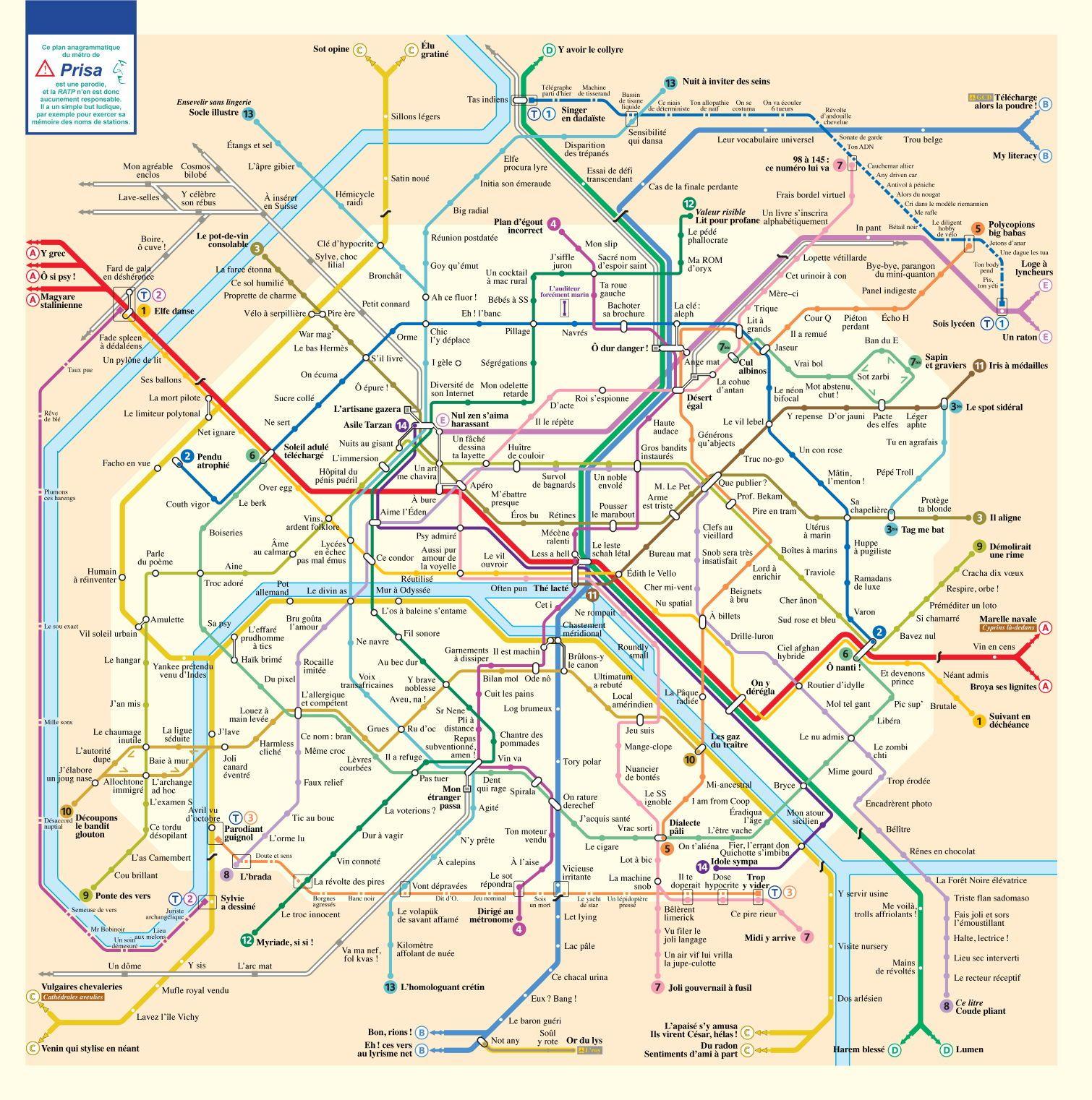 plan metro anagramme   La boite verte | ameublement | Pinterest
