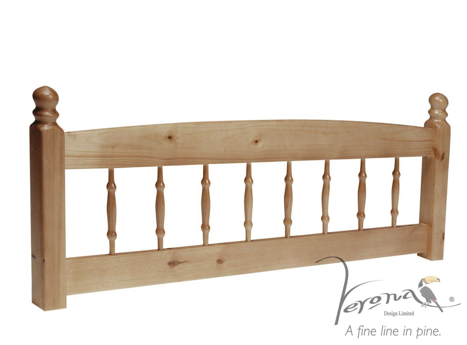 Pine Headboard 5ft King Size Wooden Palermo Spindle Style By Verona Design