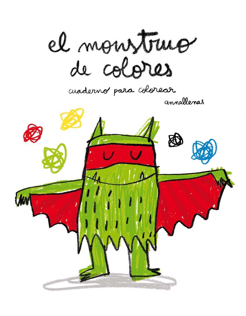 cuaderno para colorear el monstruo de colores-ana llenas ...