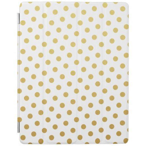 Gold Polka Dot Pattern iPad Case iPad Cover