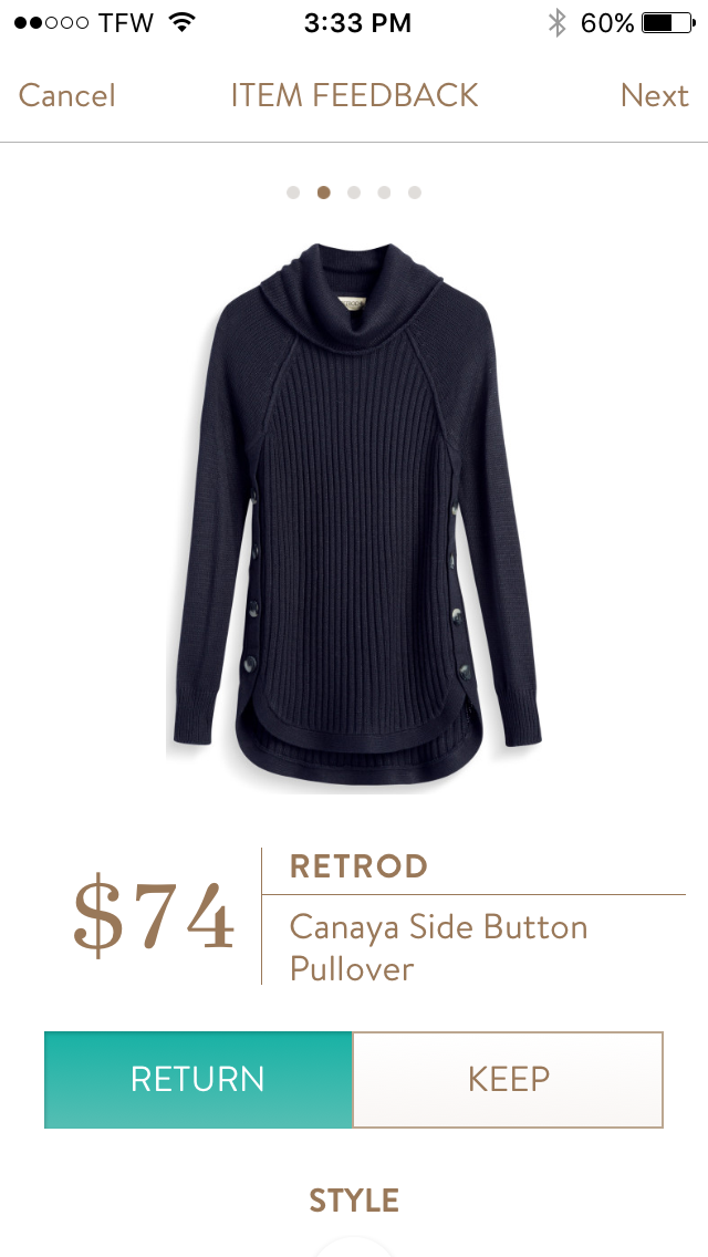 Why Its Good To Pull Over To Side Of >> Return Stitchfix Oct 2016 Retrod Canaya Side Button Pullover