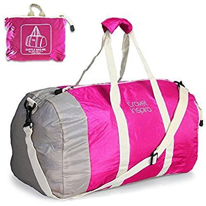 Foldable Travel Luggage Duffle Bag Sports Gym Vacation Orange