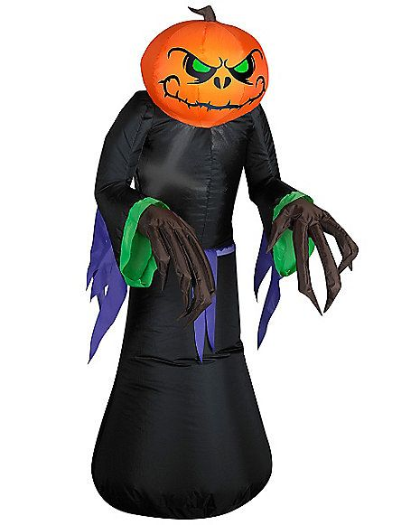 4 Ft Pumpkin Reaper Kid Inflatable - Decorations - Spirithalloween - outdoor inflatable halloween decorations