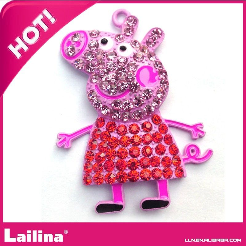 Colorful Rhinestone Crystal Pendant For Valentine's Day