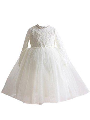 434c43f8f04 Bow Dream Flower Girl s Dress Lace White 2 Bow Dream http   www.