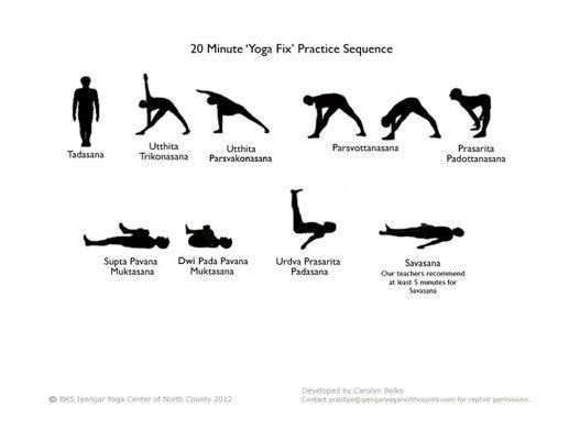 Enchaînement de postures de yoga pour se détendre, réduire