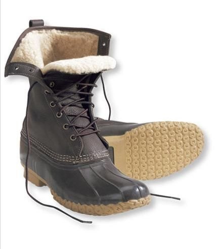 8 ways to stay warm - L.L. Bean shearling-lined boots.   Those classic preppy Bean boots made a huge comeback this year.