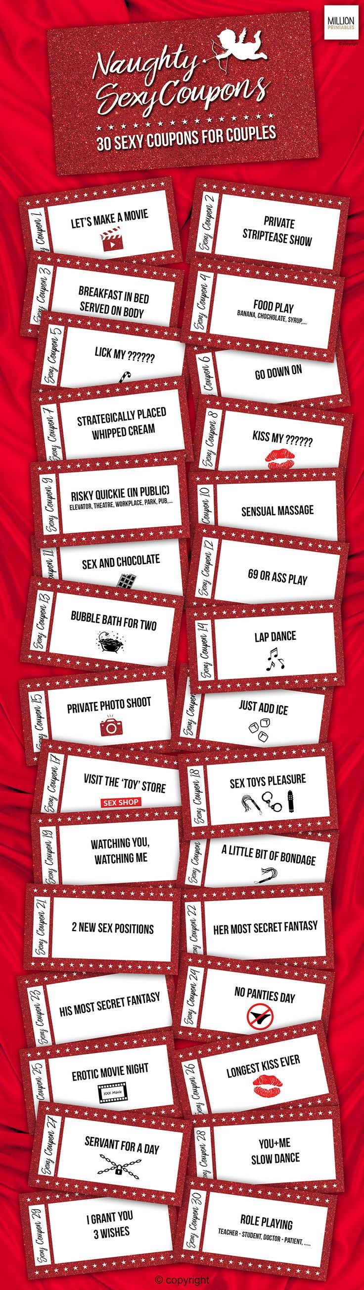 Naughty Coupon Book, Sex Coupons, naughty coupons, gift for couple, erotic  coupons