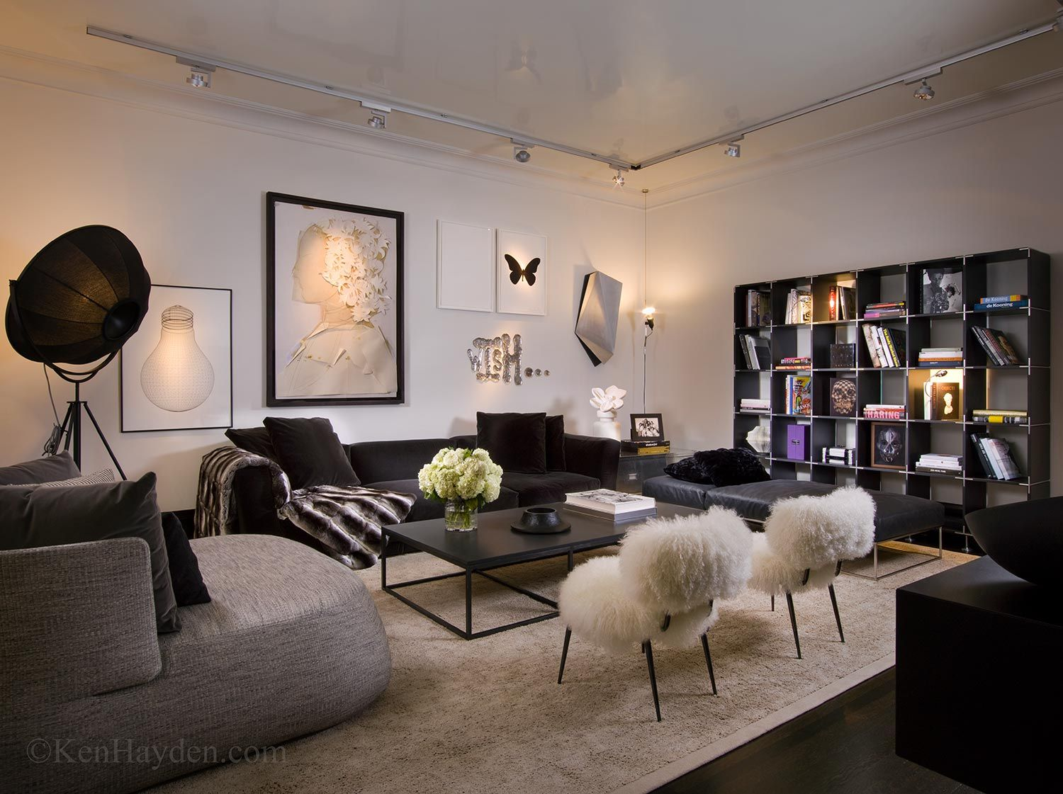 Ken Hayden photographed this sultry New York City living room