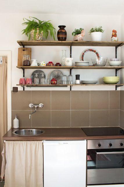 DIY Küche mit offenen Regalen | Küche selber bauen, offene Regale ...