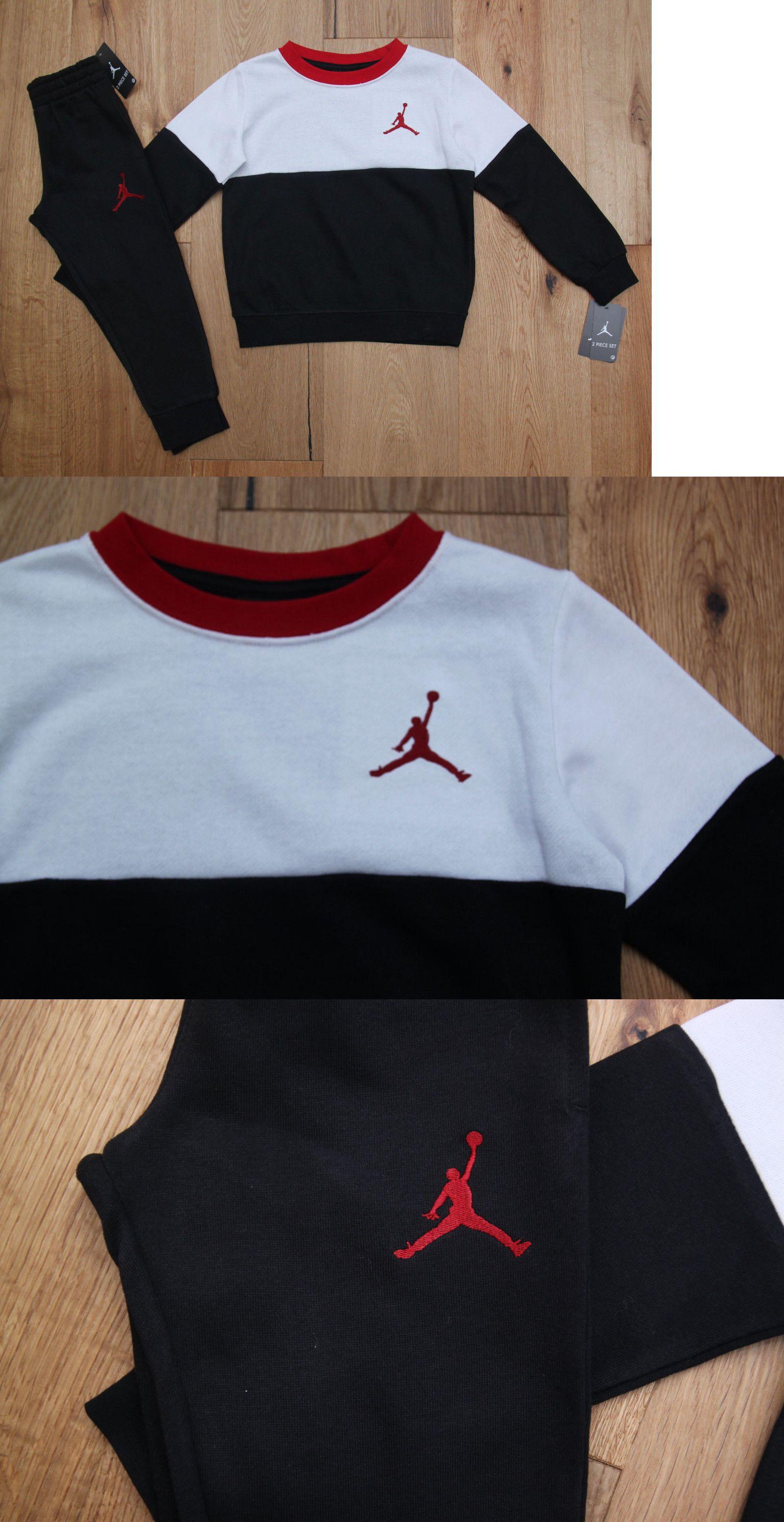3ac25724e380 Outfits and Sets 147333  Air Jordan Toddler Boy 2 Piece Jogging Set~ Sweatsuit~Black