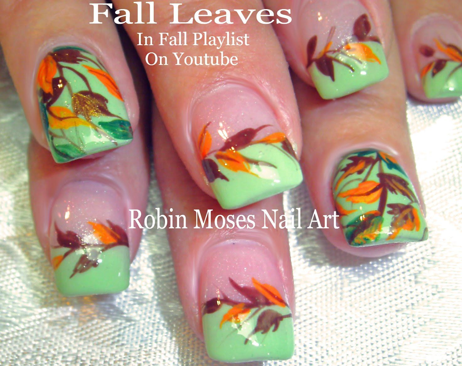 Nail art diy fall nails easy autumn leaves design tutorial subscribe to my channel here httpbit1udlr1b and nail art prinsesfo Images