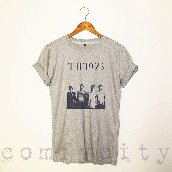 The 1975 shirt rock band shirt tshirt grey GRAY ST37 by ComfyCity, $17.00
